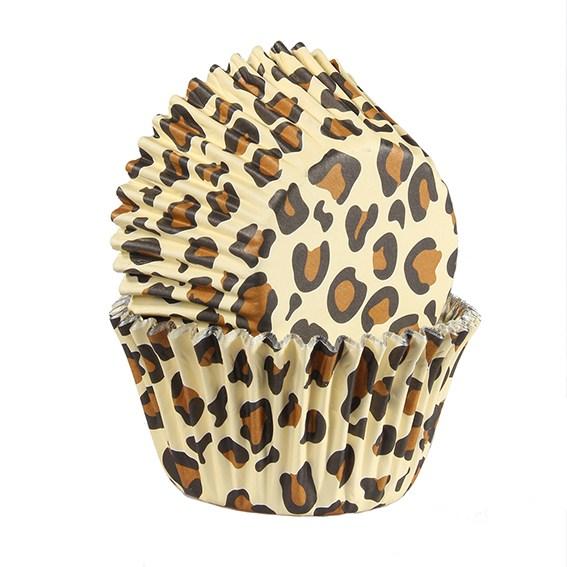 Caissettes à cupcake – Léopard marron - Lot de 25