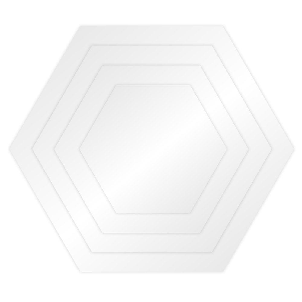 Plateau à ganache acrylique Hexagone - Choisir la taille