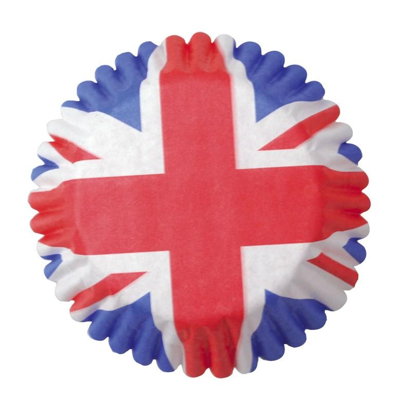 Caissettes à cupcake – Angleterre- Lot de 54