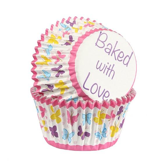 Caissettes à cupcake – Papillons multicolore - Lot de 25