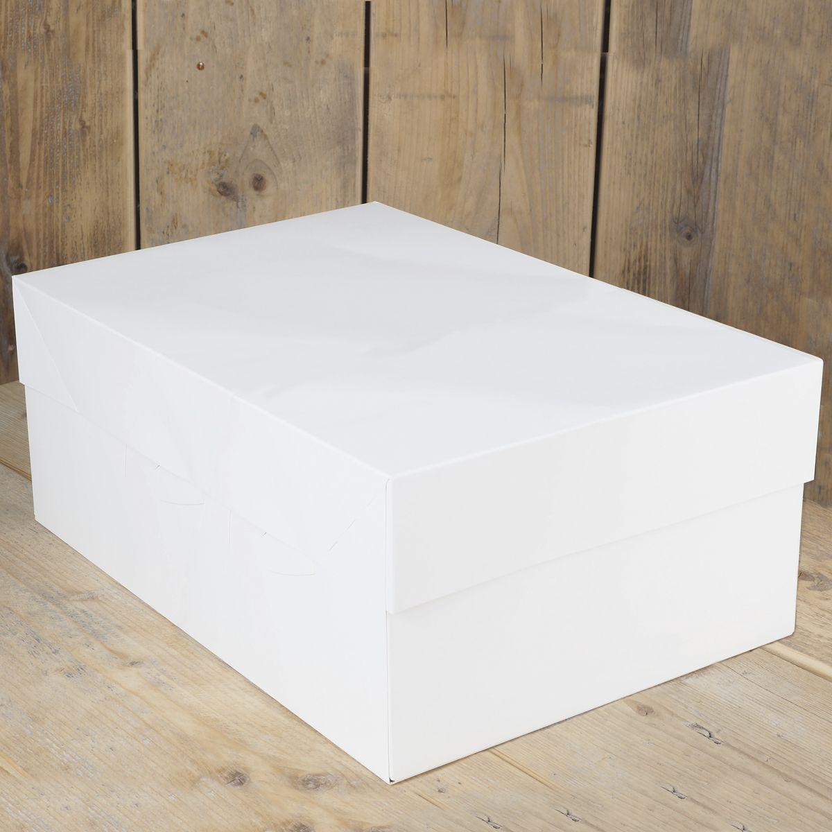 Boite a Gâteaux Rectangle - Blanc