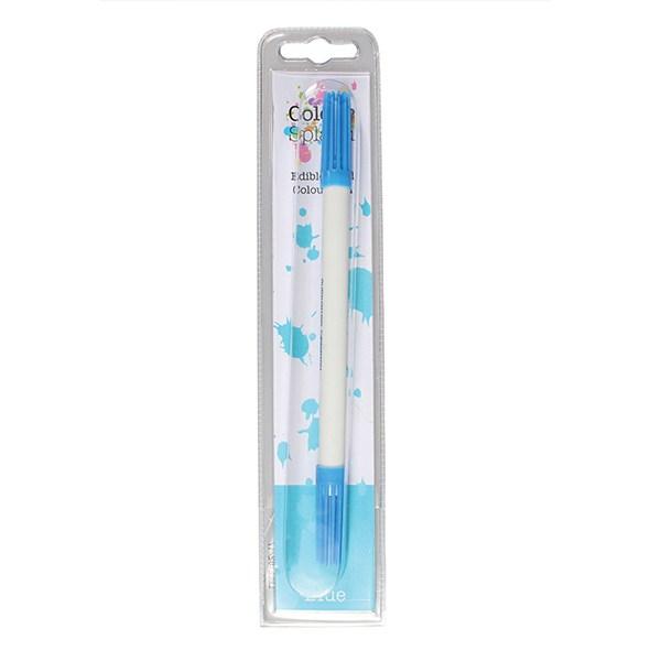 stylo alimentaire colour splash bleu