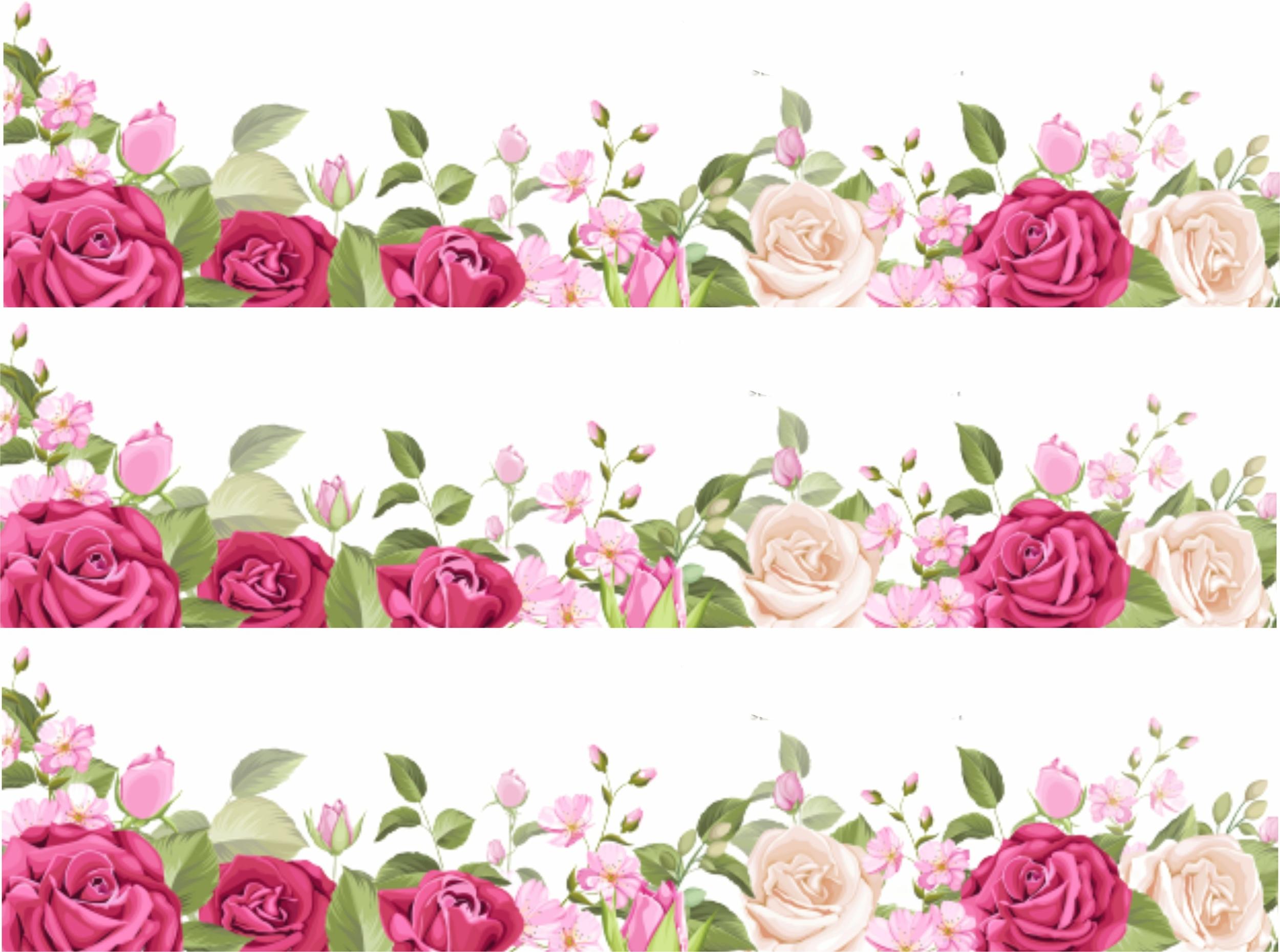 Contour de gâteau - Roses