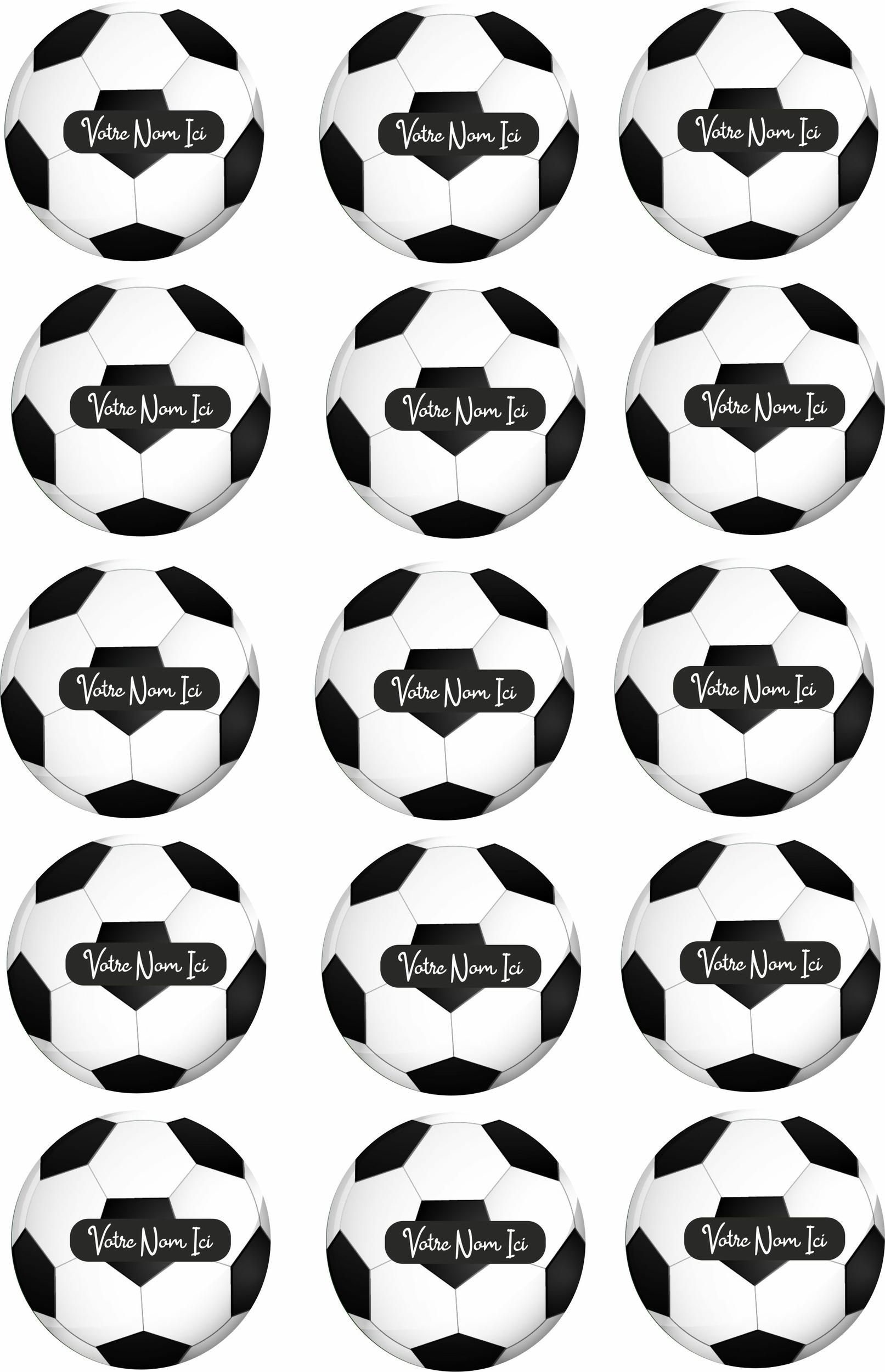 Disques en sucre Cupcakes – Ballon de Foot
