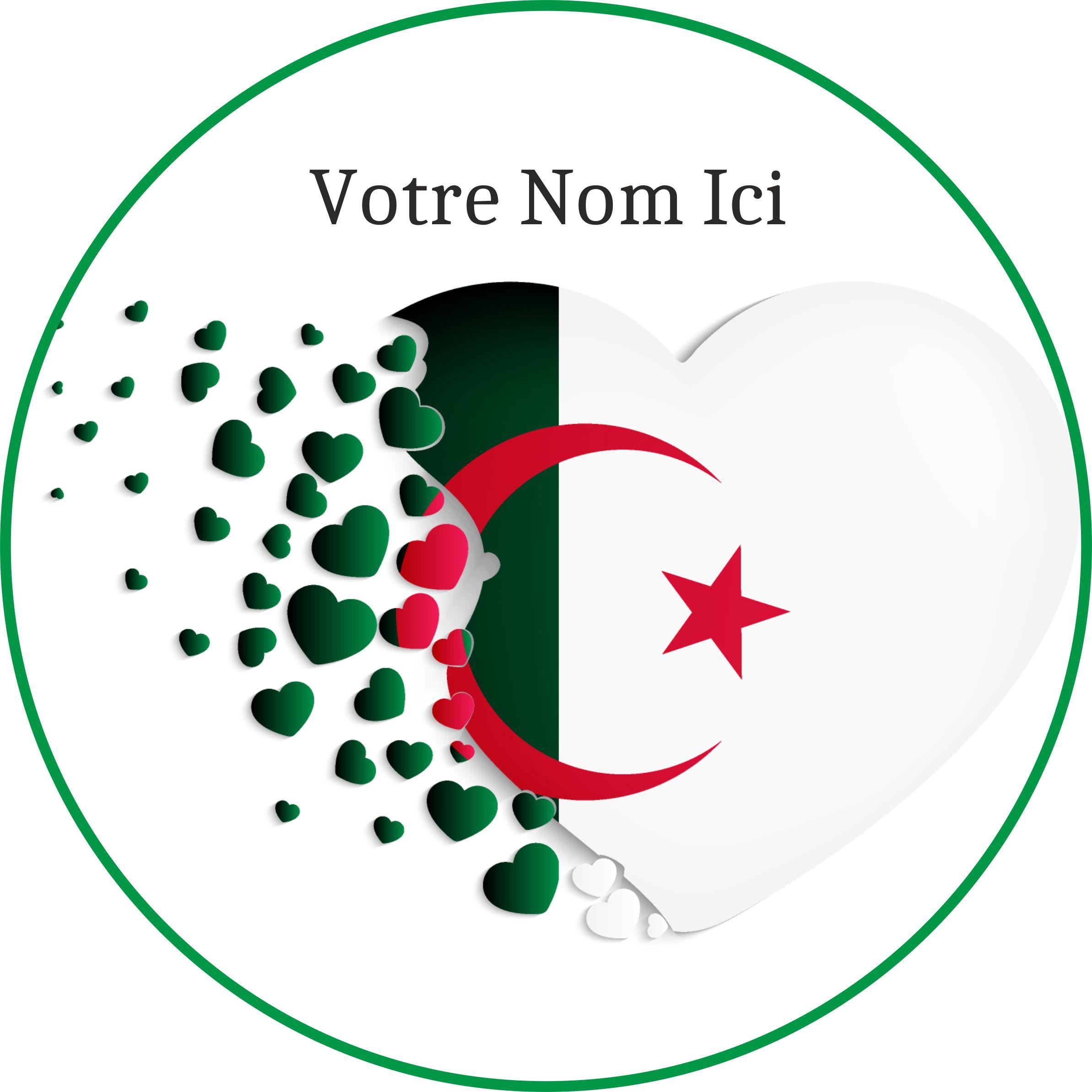 Disques en sucre Gâteau – Coeur Algérie