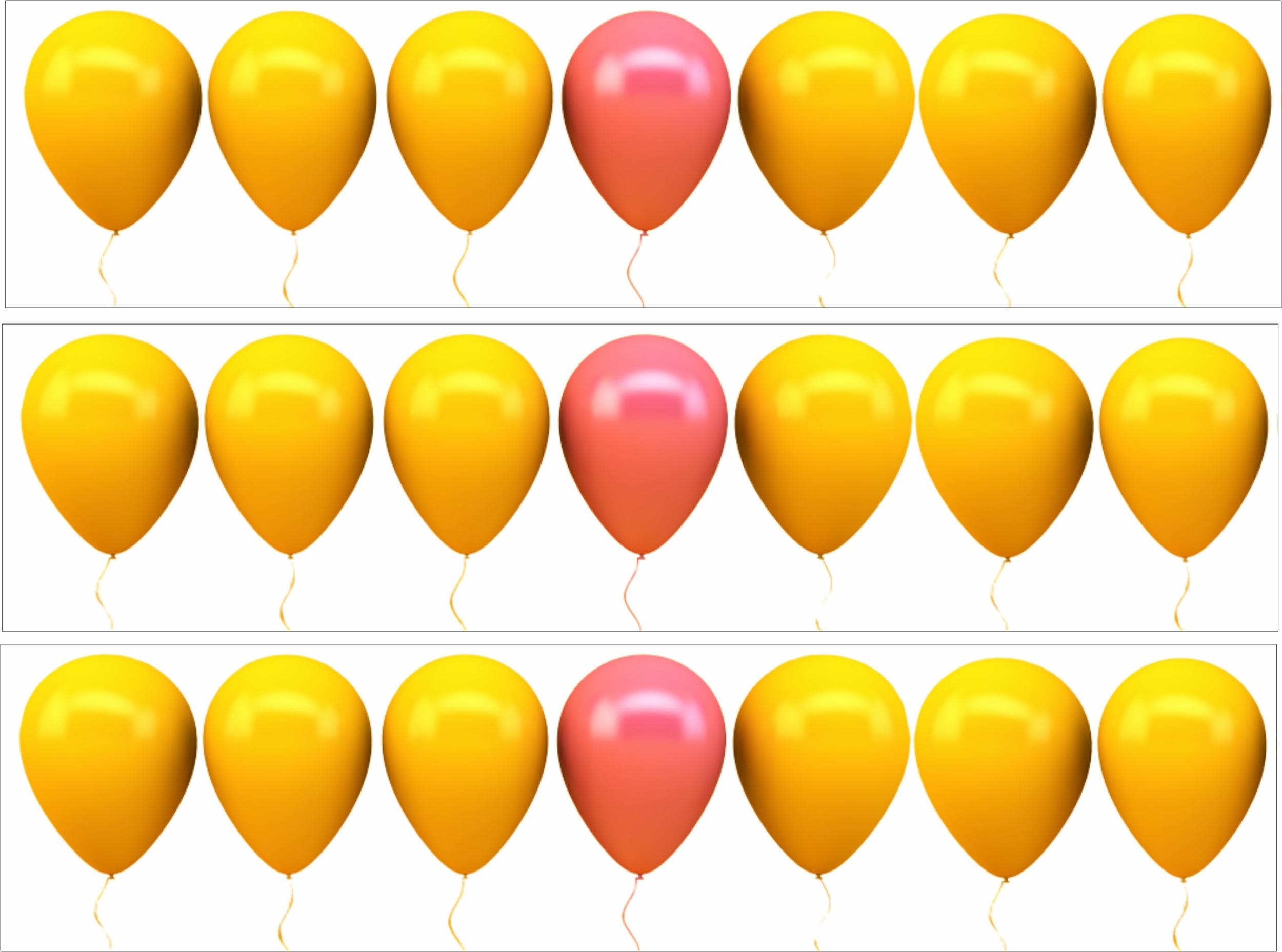 Contour de gâteau - Ballons Jaune et Rose