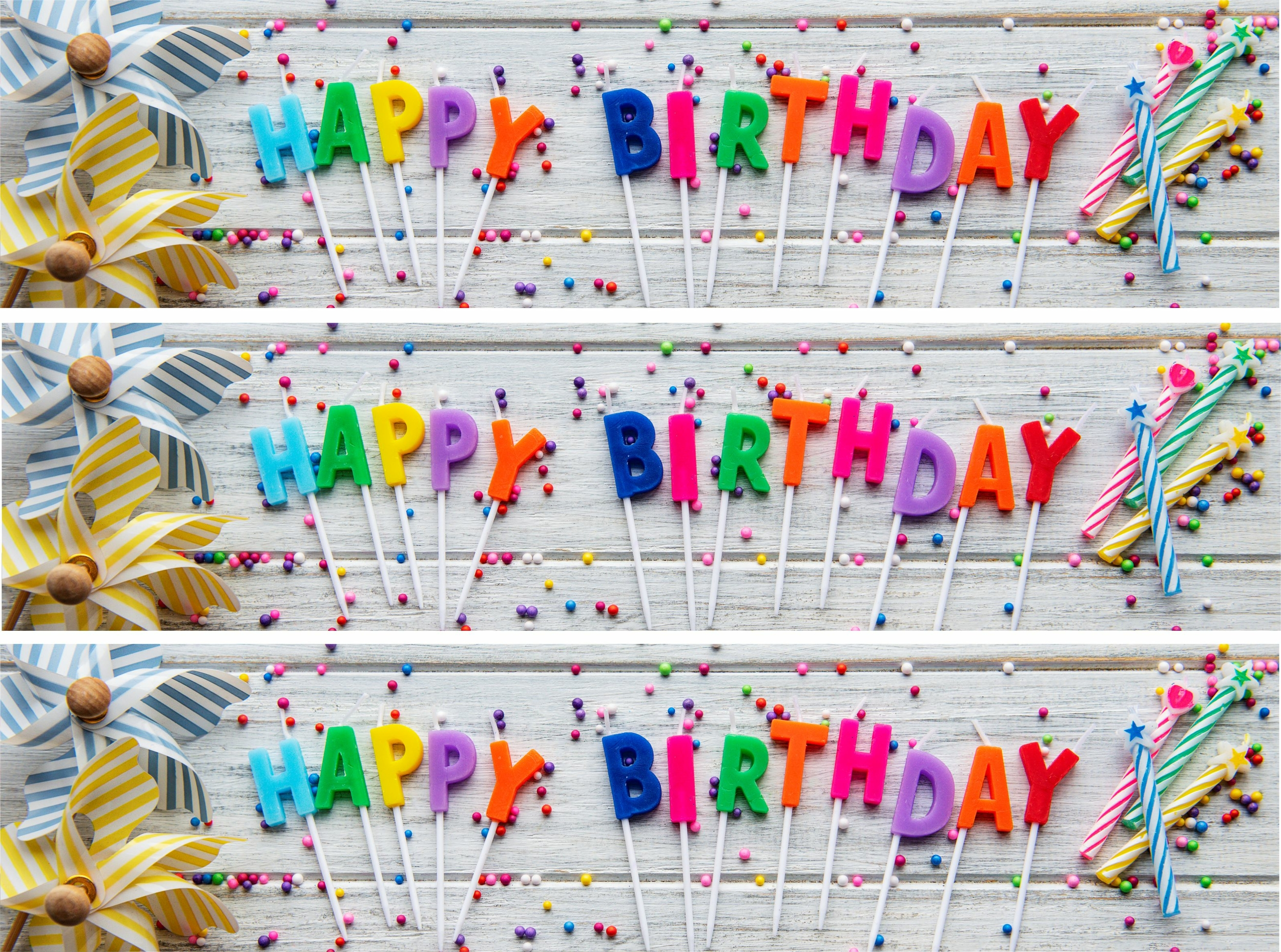 Contour de gâteau - Happy Birthday Bougies