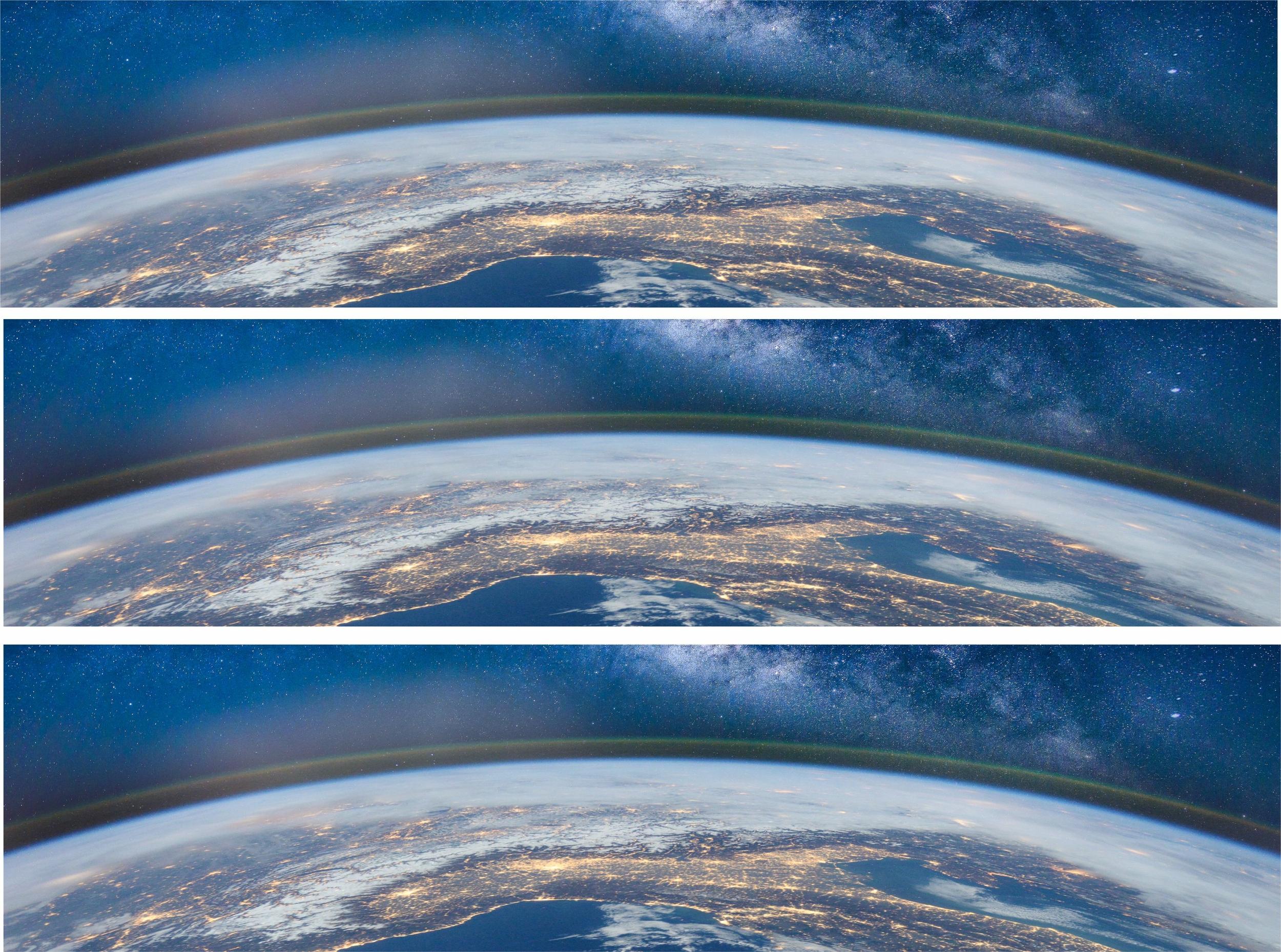 Contour de gâteau - Terre vue de l\'espace