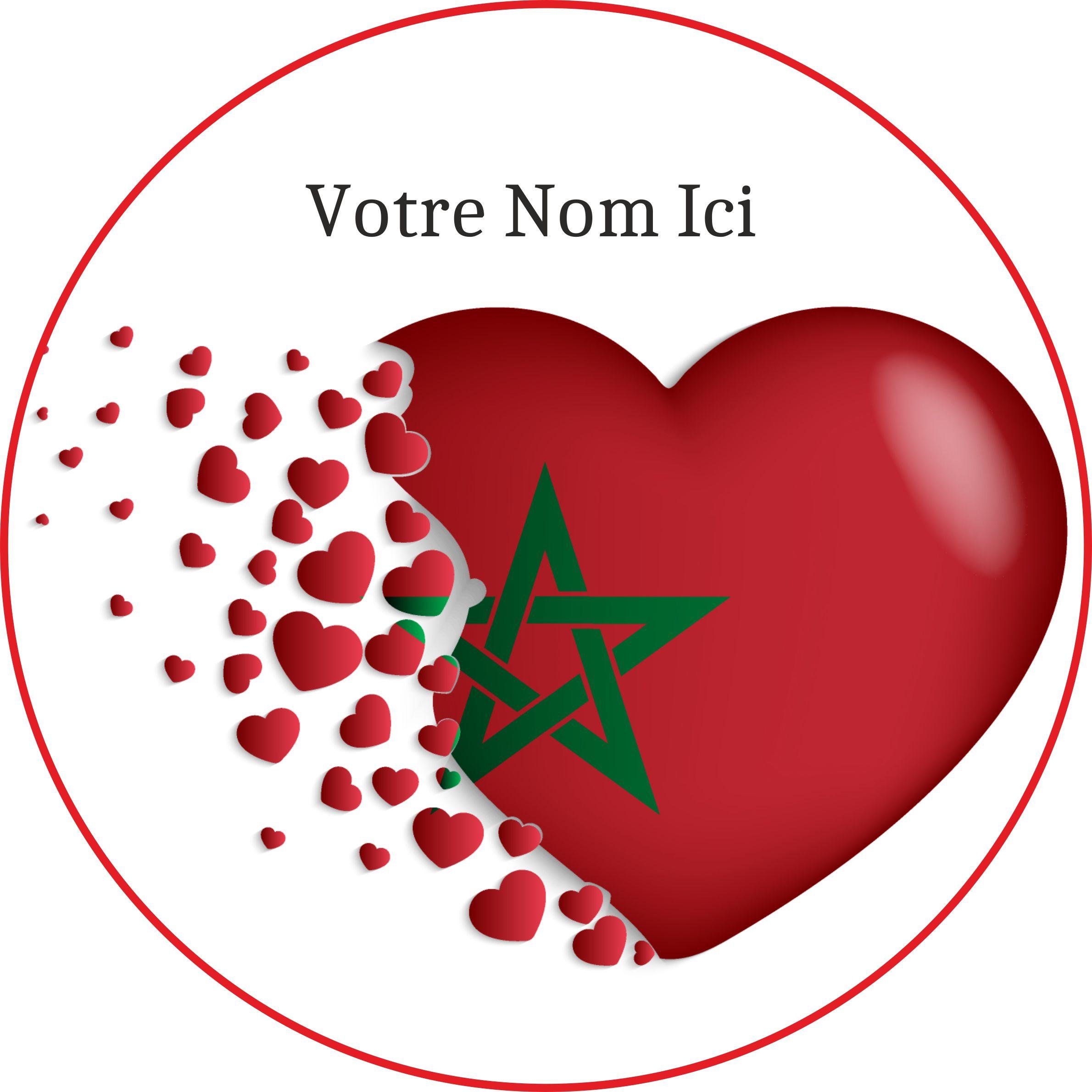 Disques en sucre Gâteau – Coeur Maroc