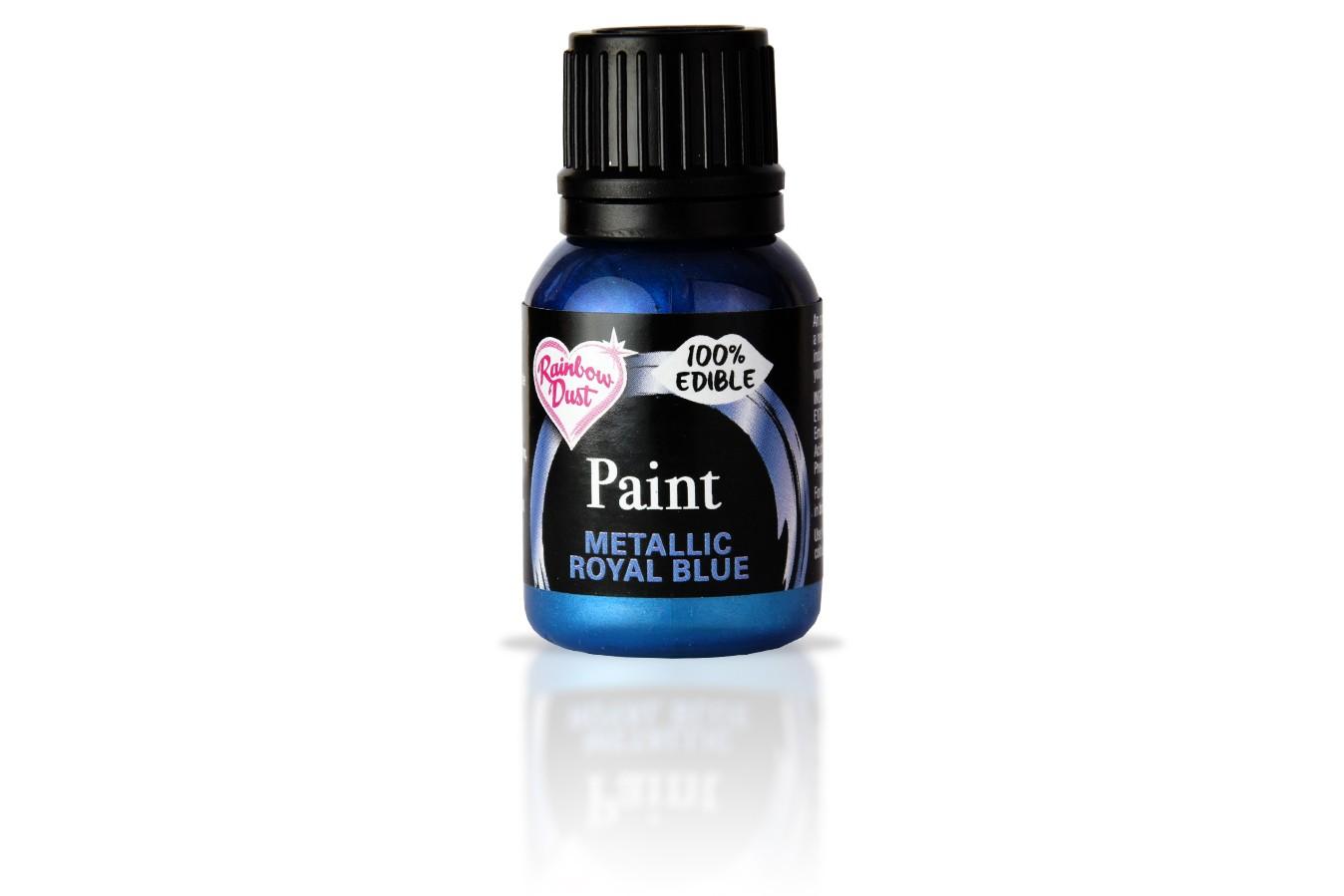 Peinture alimentaire métallisé 25 ml - Bleu royale