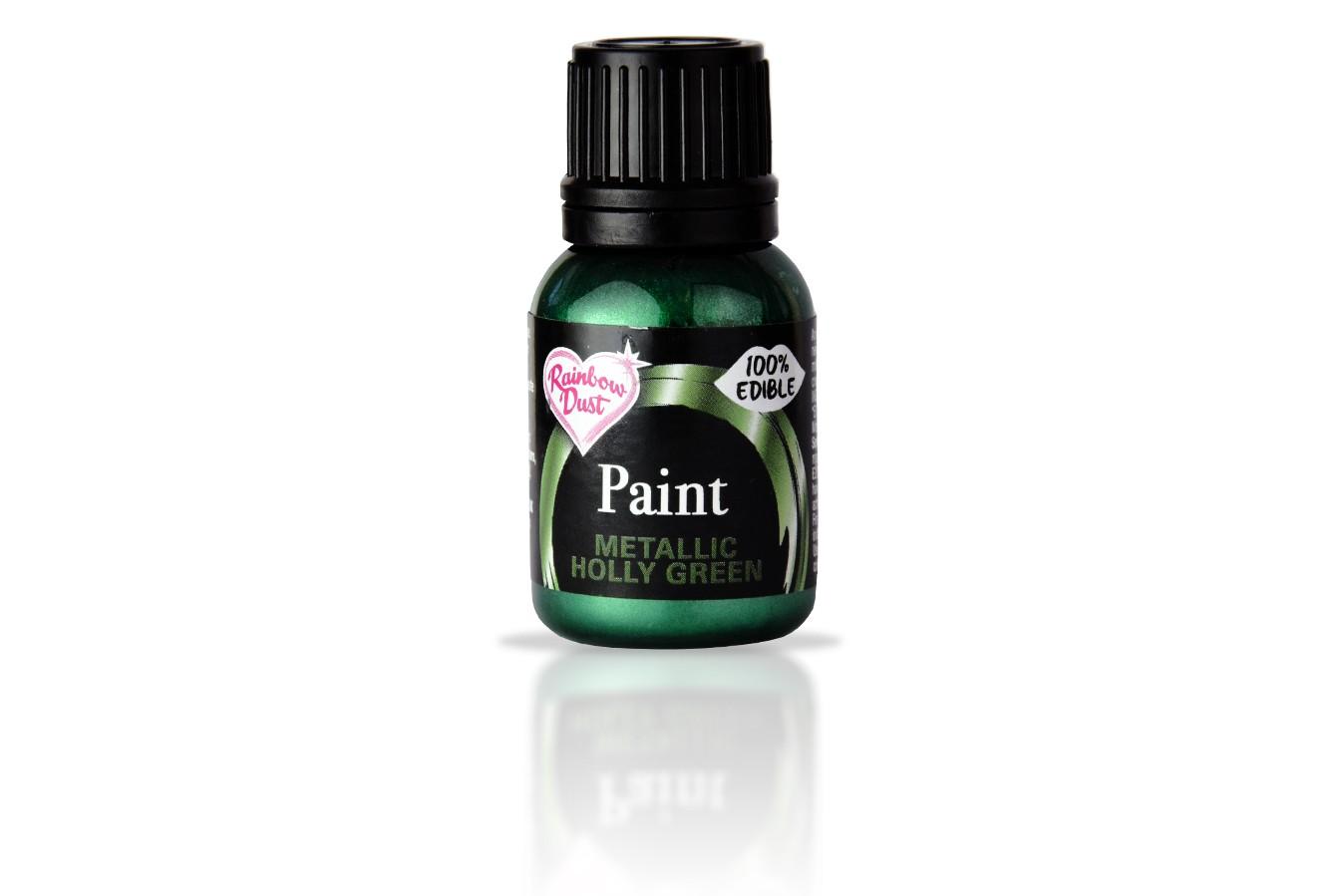 Peinture alimentaire métallisé 25 ml - Vert de Sapin