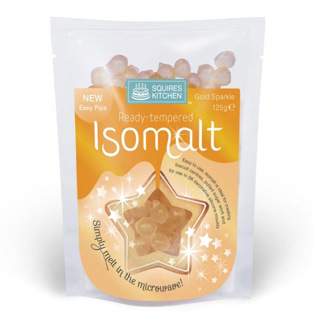 Isomalt pré-tempéré - Or clair - 125 g