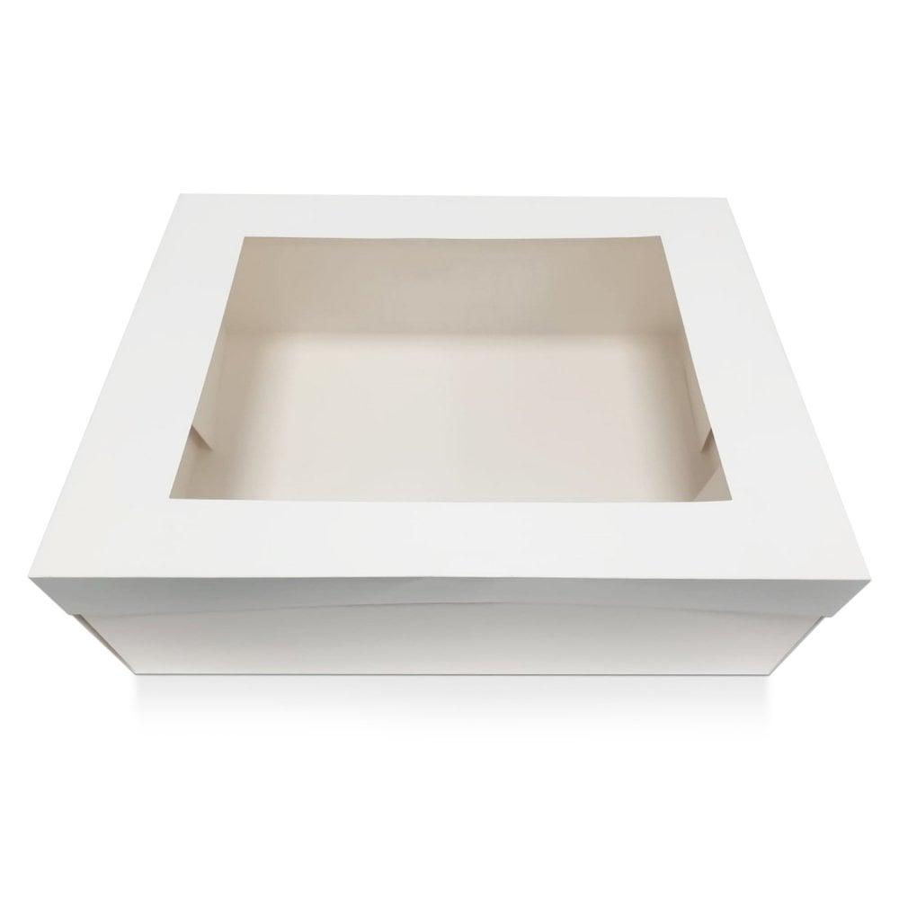 Boite a Gâteaux Rectangle à fenêtre 40 cm - Blanc