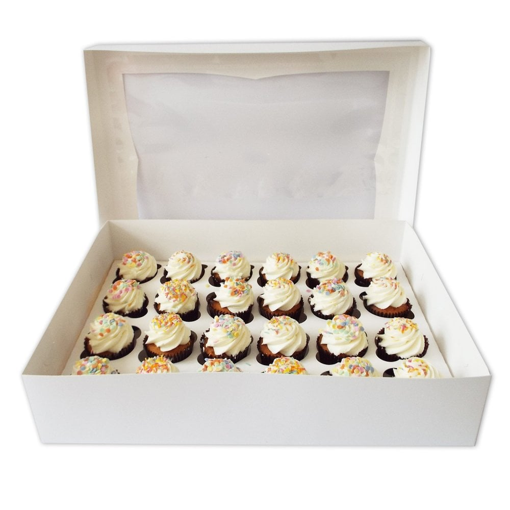 Boîte à fenêtre pour 24 cupcakes – Blanc