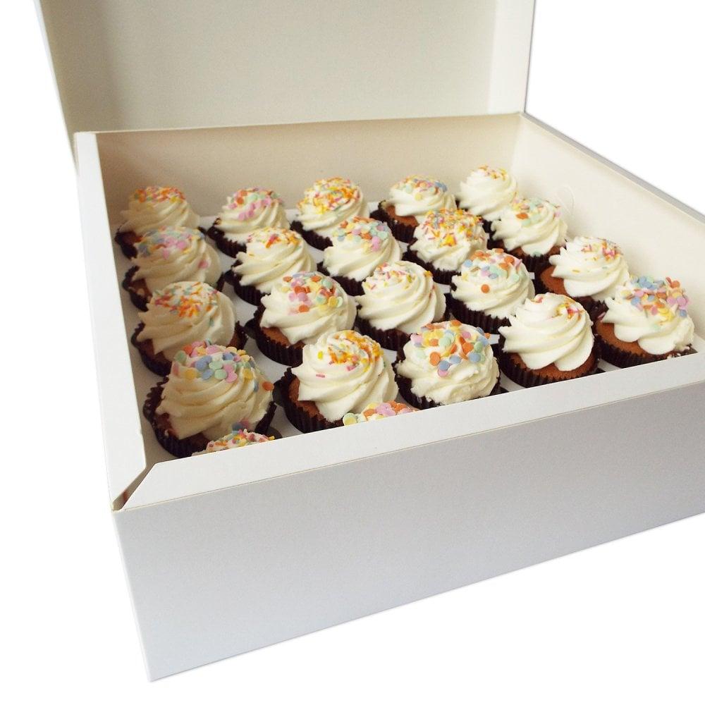 Boîte à pour 25 cupcakes – Blanc