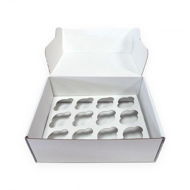 Boîte pour 12 mini cupcakes Solide – Blanc