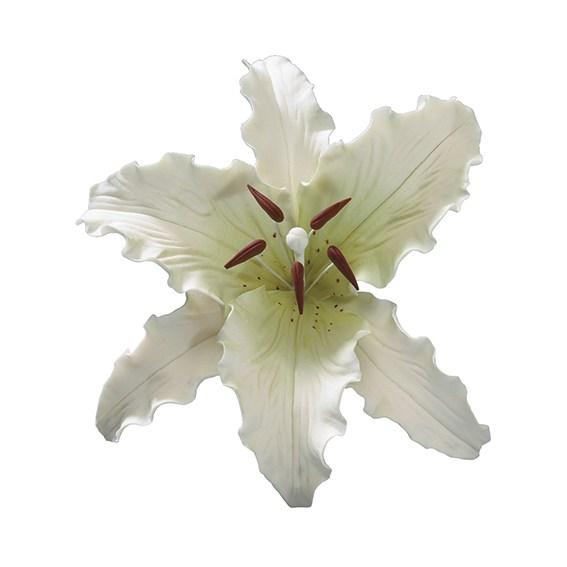 Fleur en sucre - Lis Stargazer - Blanc