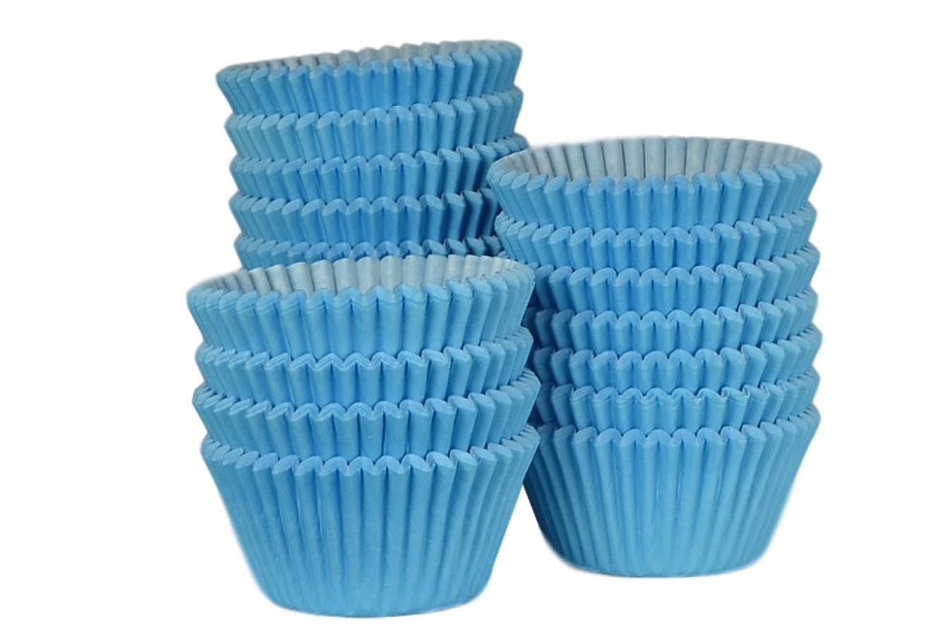 Caissettes à Cupcake - Bleu clair - Lot de 500