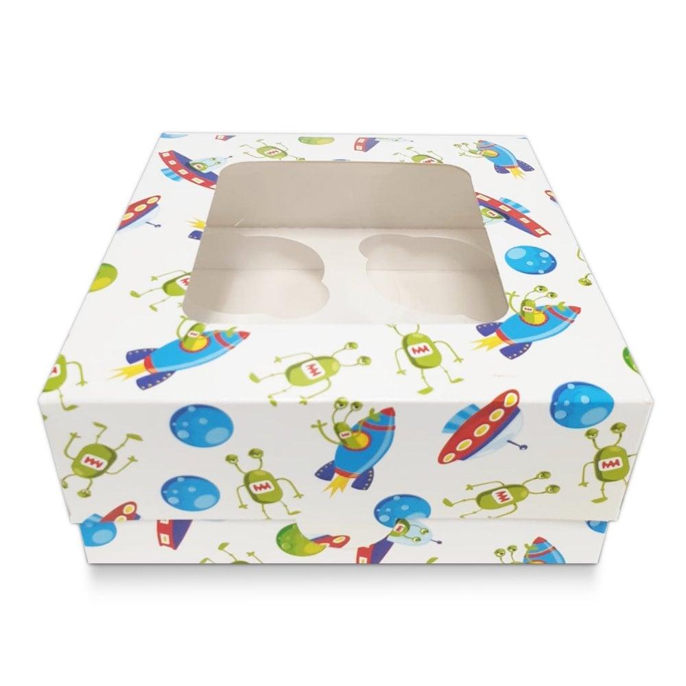 Boîte pour 4 cupcakes – Espace Blanc