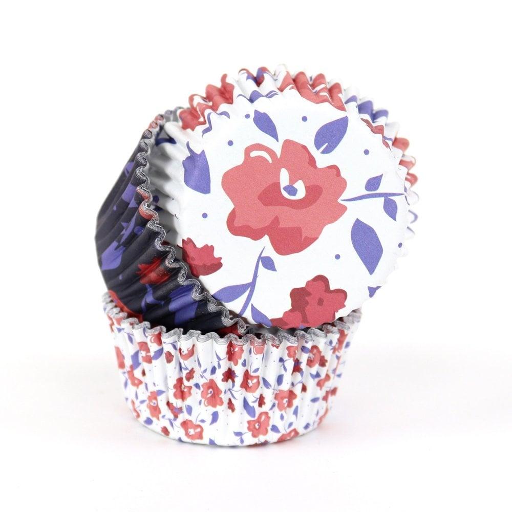 Caissettes à Cupcake - Floral Blanc - Lot de 60