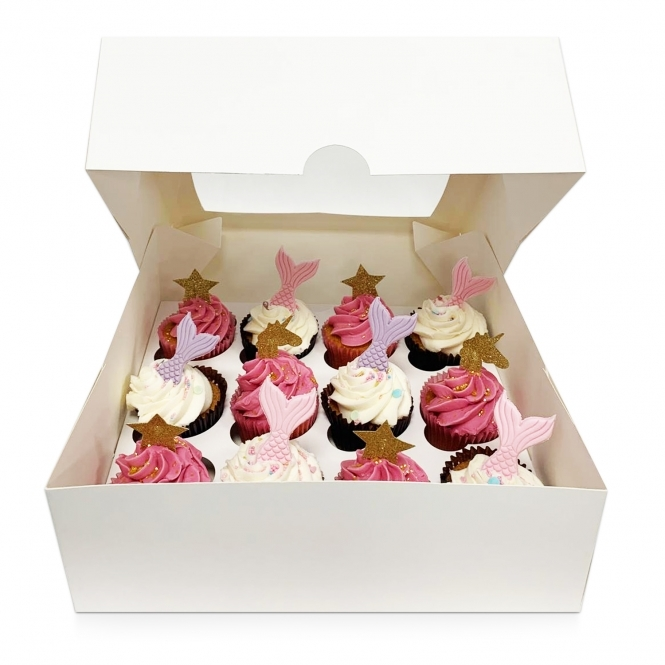 Boite pour 12 cupcake - Blanc