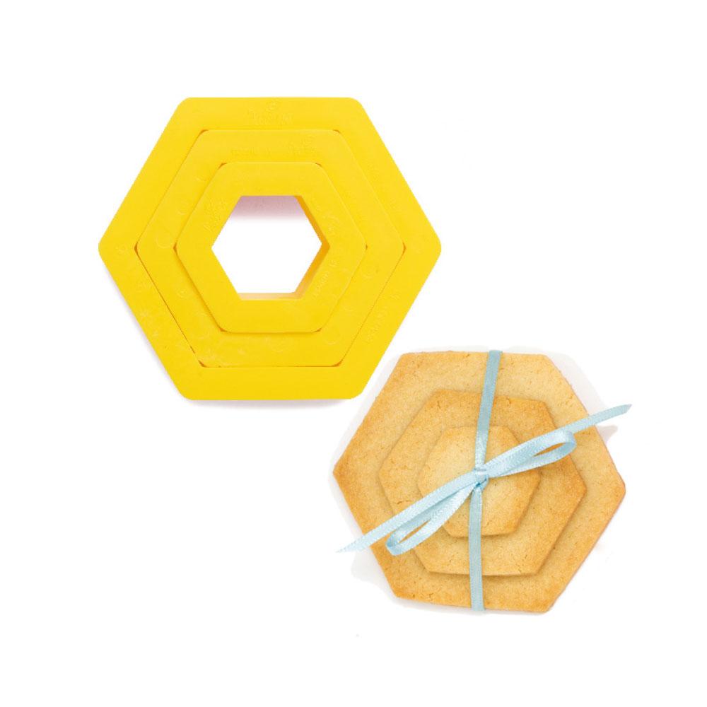 Découpoir - Hexagone - Lot de 3