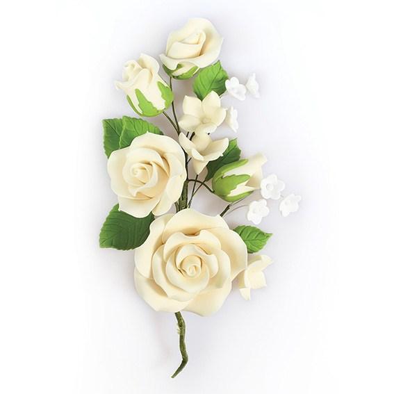 Fleur en sucre - Rose 14.5 cm - Ivoire