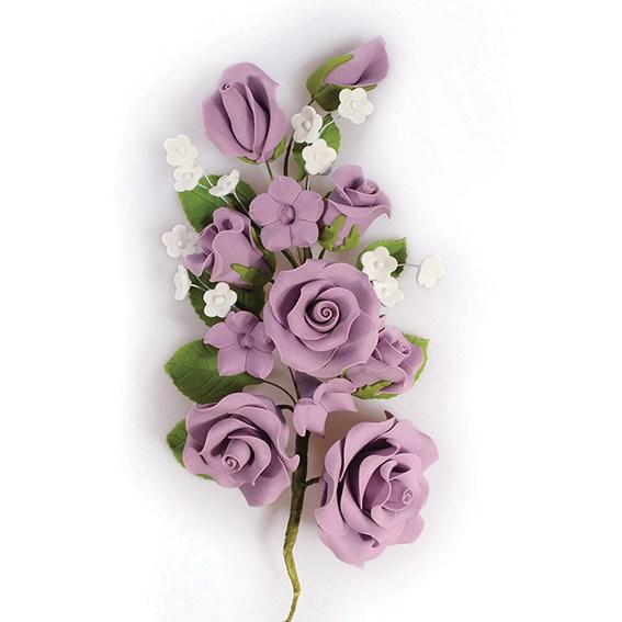Fleur en sucre - Rose 17 cm- Lilas
