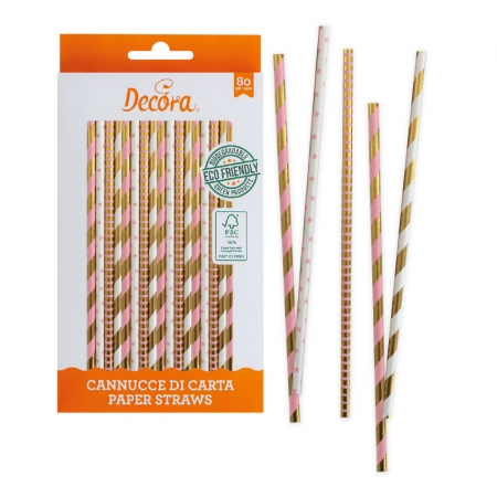 Bâtonnets à Cake Pop - Or et Rose - Lot de 80