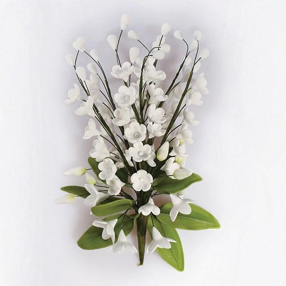 Fleur en sucre - Lis de vallée 15 cm - Blanc