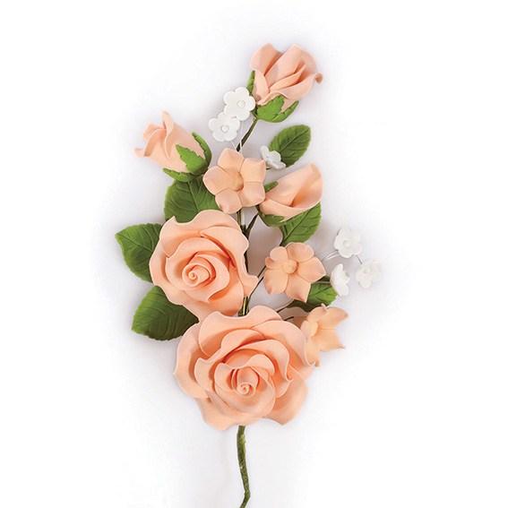 Fleur en sucre - Rose 14.5 cm - Beige