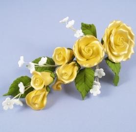 Fleur en sucre - Rose 15 cm - Or