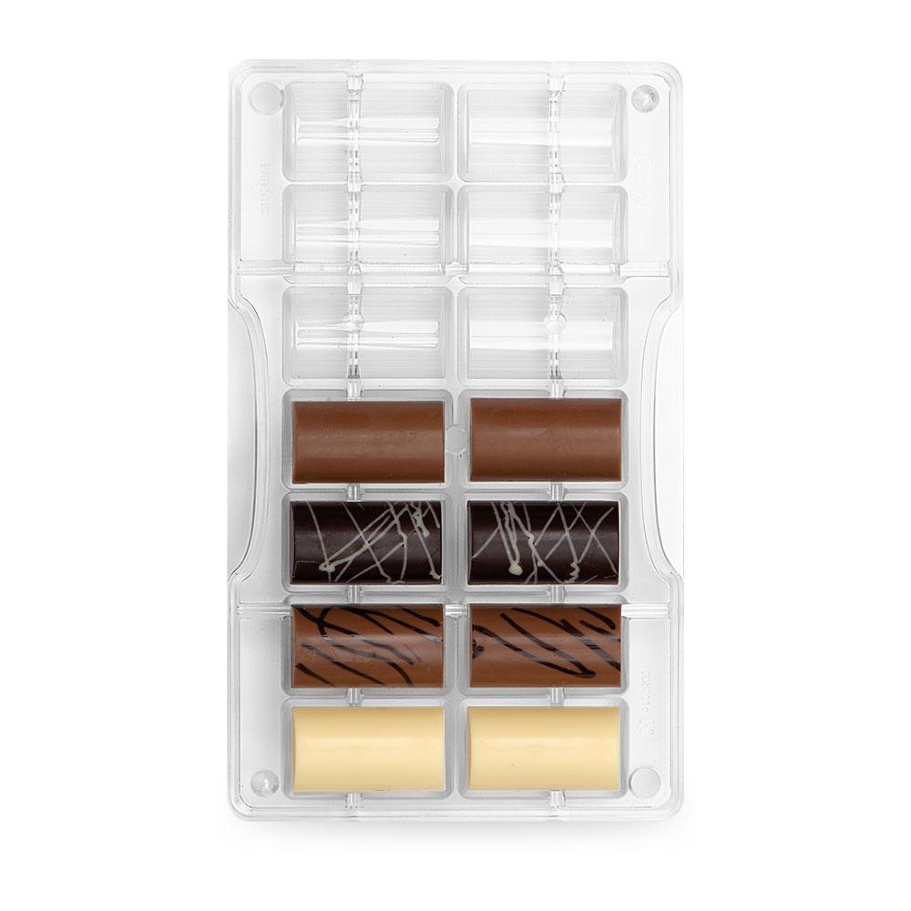 Moule pour chocolat - Demi Cylindre
