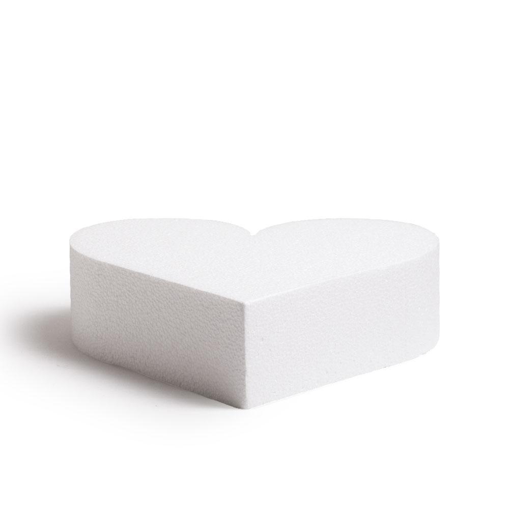 Dummy Coeur en polystyrène Ht 7,5 cm – 20 cm