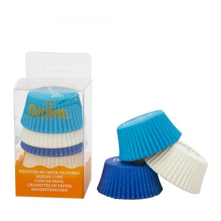 Caissettes à cupcake - Bleus et Blanc - Lot de 75