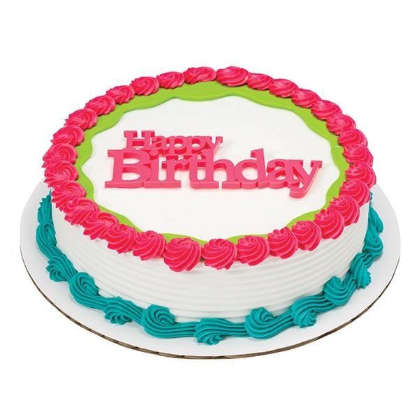 Topper à poser - Happy Birthday - Choisir la couleur