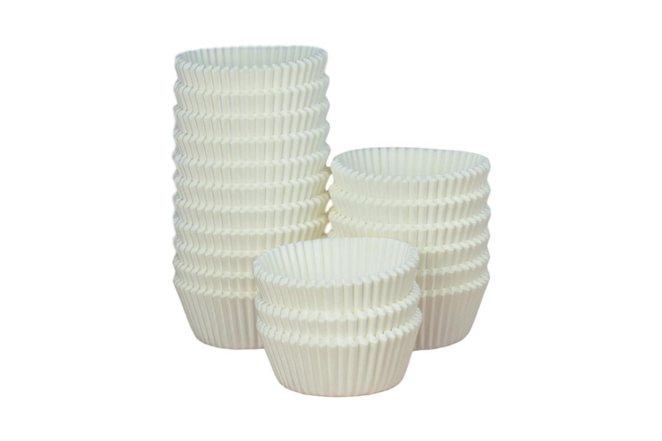 Caissettes à Cupcake - Blanc - Lot de 1000