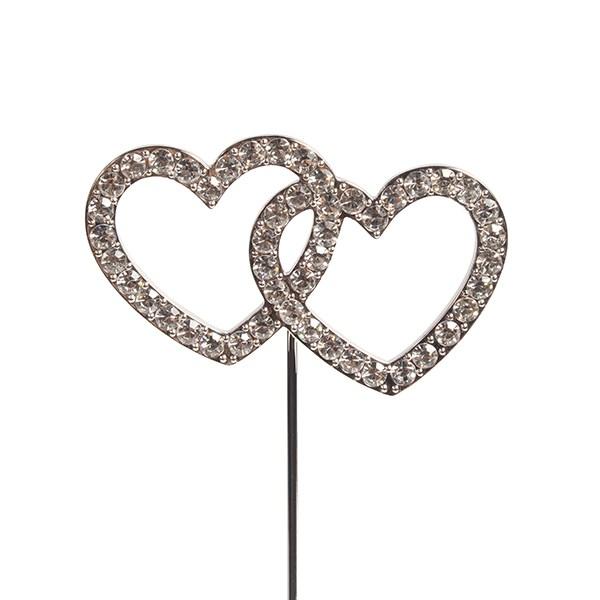 Topper en Diamant: Double coeur