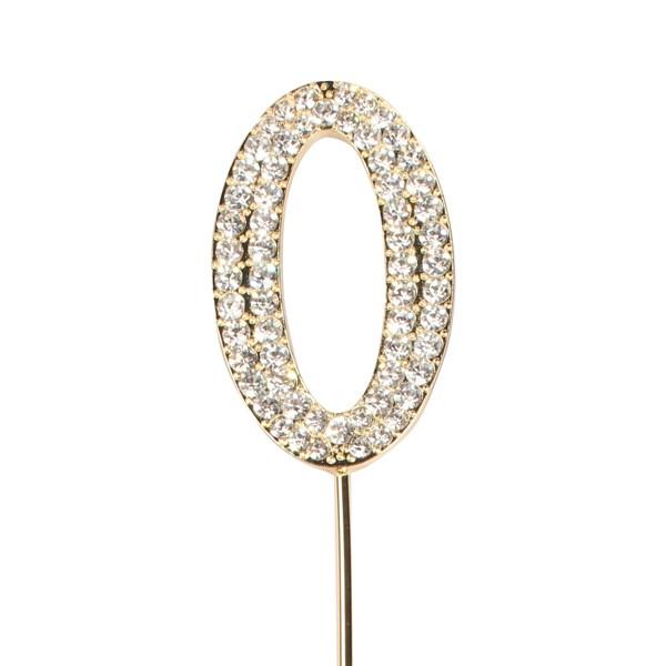 Topper en Diamant Or : Numéro 0