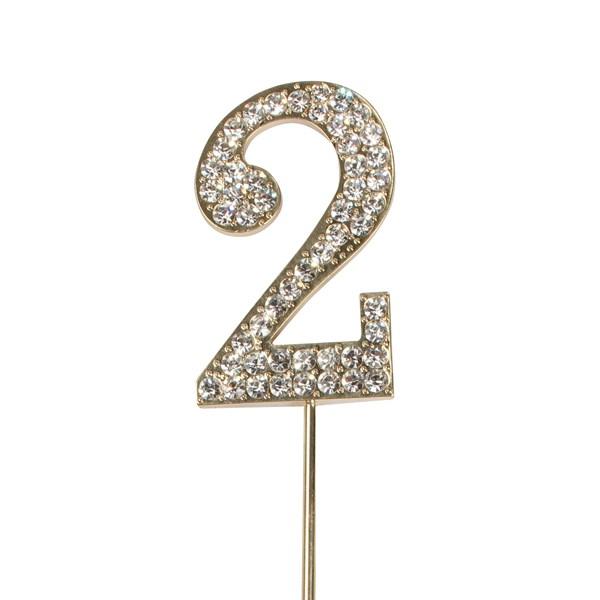 Topper en Diamant Or : Numéro 2