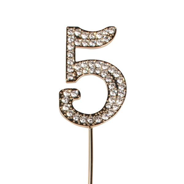 Topper en Diamant Or : Numéro 5