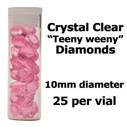 Diamants comestibles - Rose Clair - Lot de 25