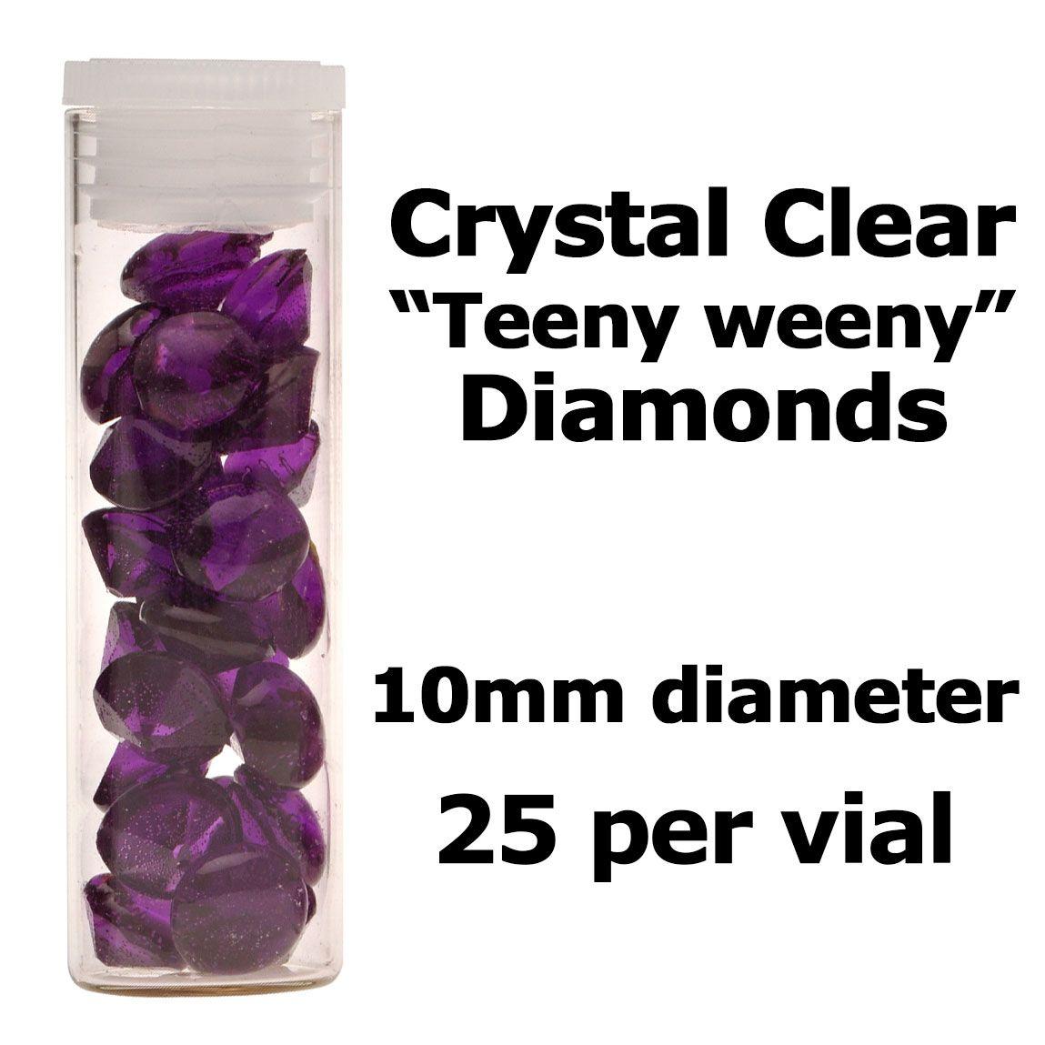 Diamants comestibles - Violet - Lot de 25