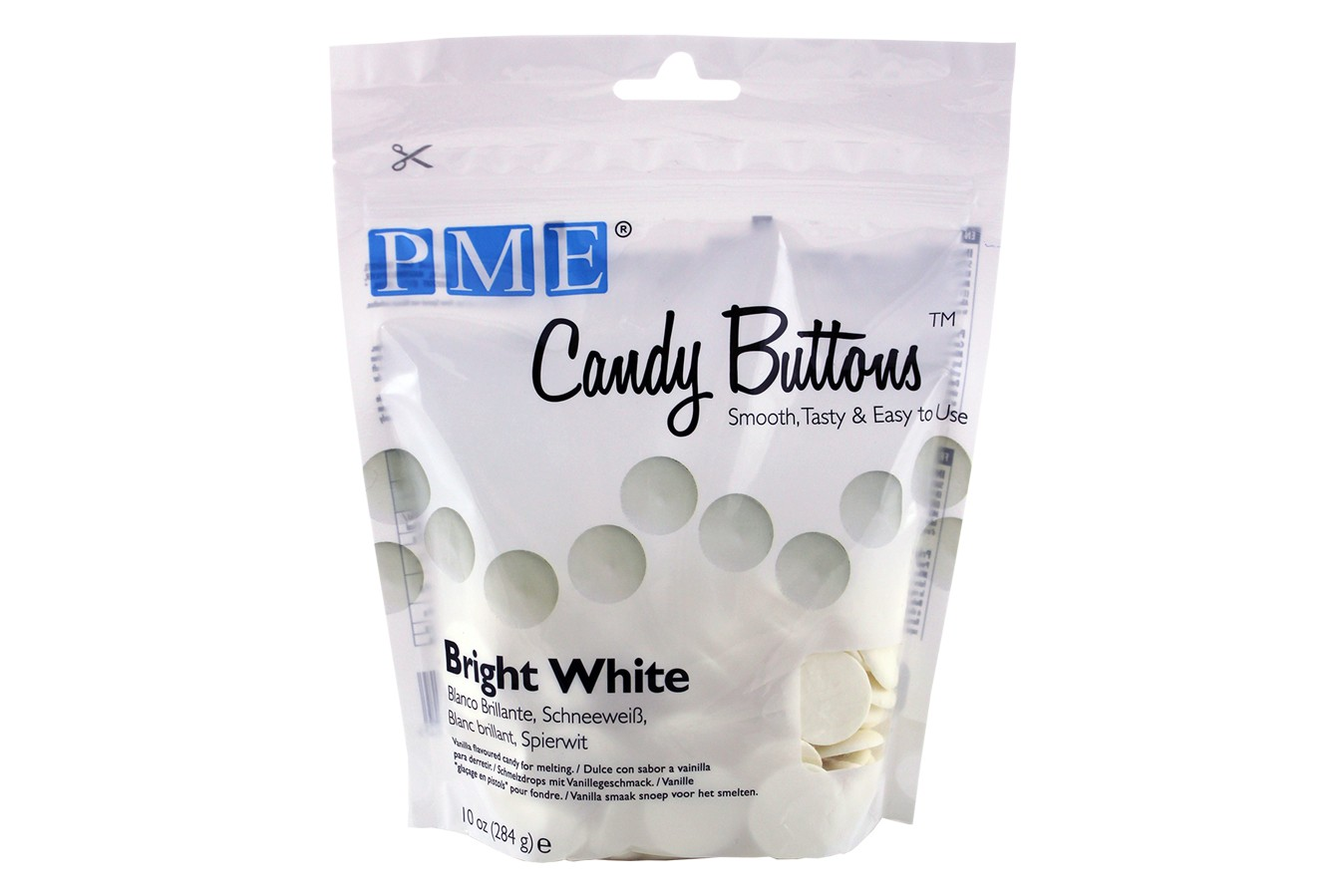 Candy Buttons 340 g - Blanc Brillant