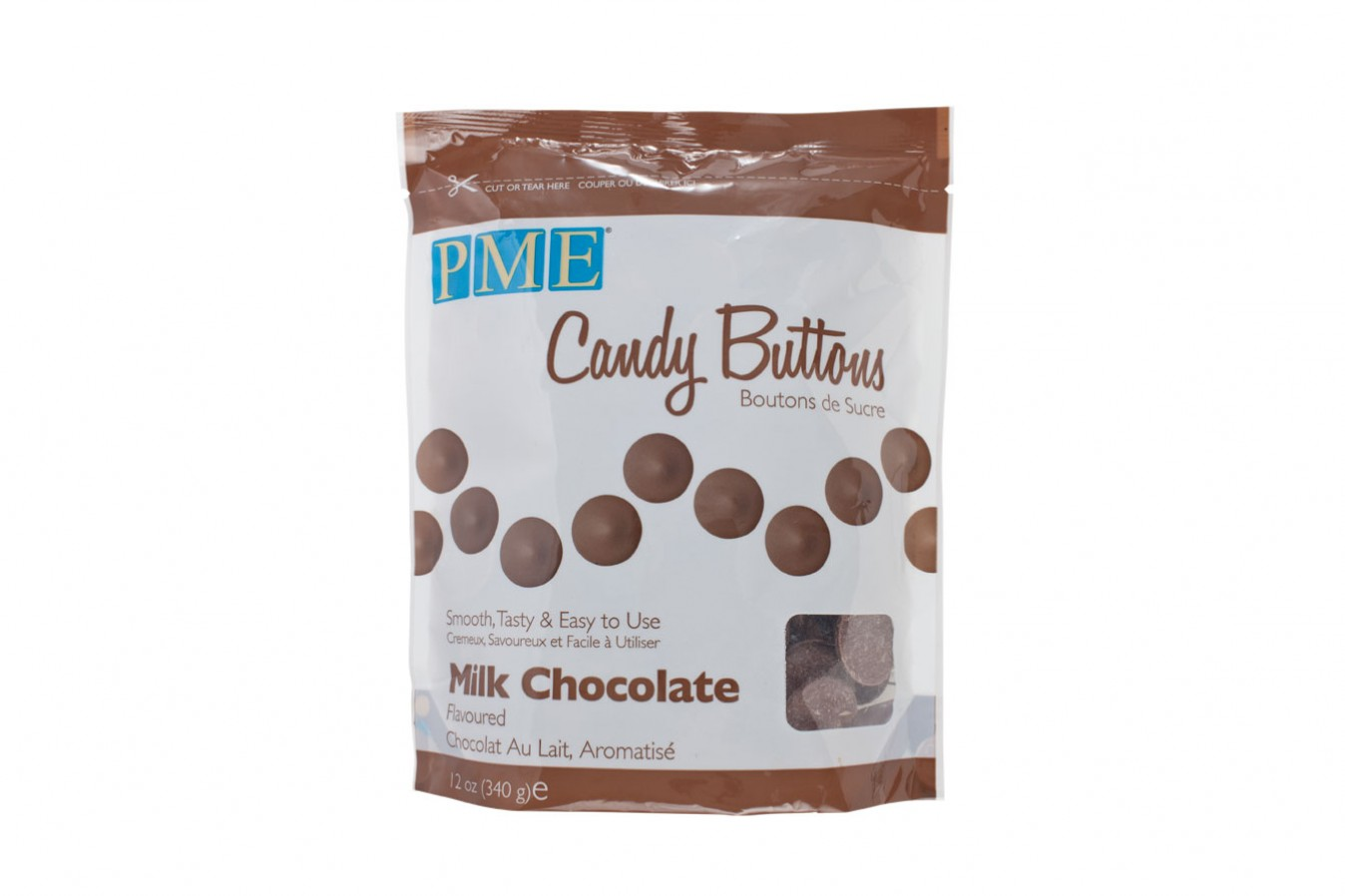 Candy Buttons 340 g – Marron