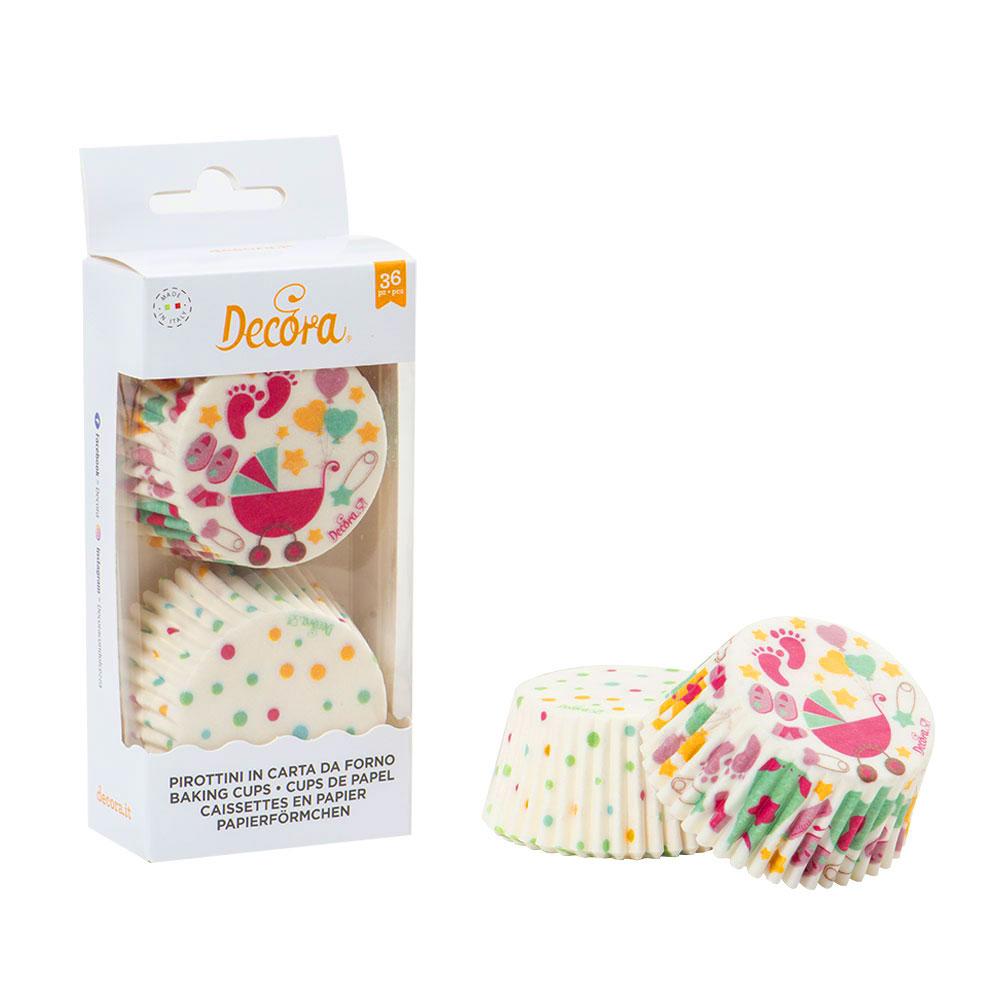 Caissettes à cupcake - Bébé à Pois - Lot de 36