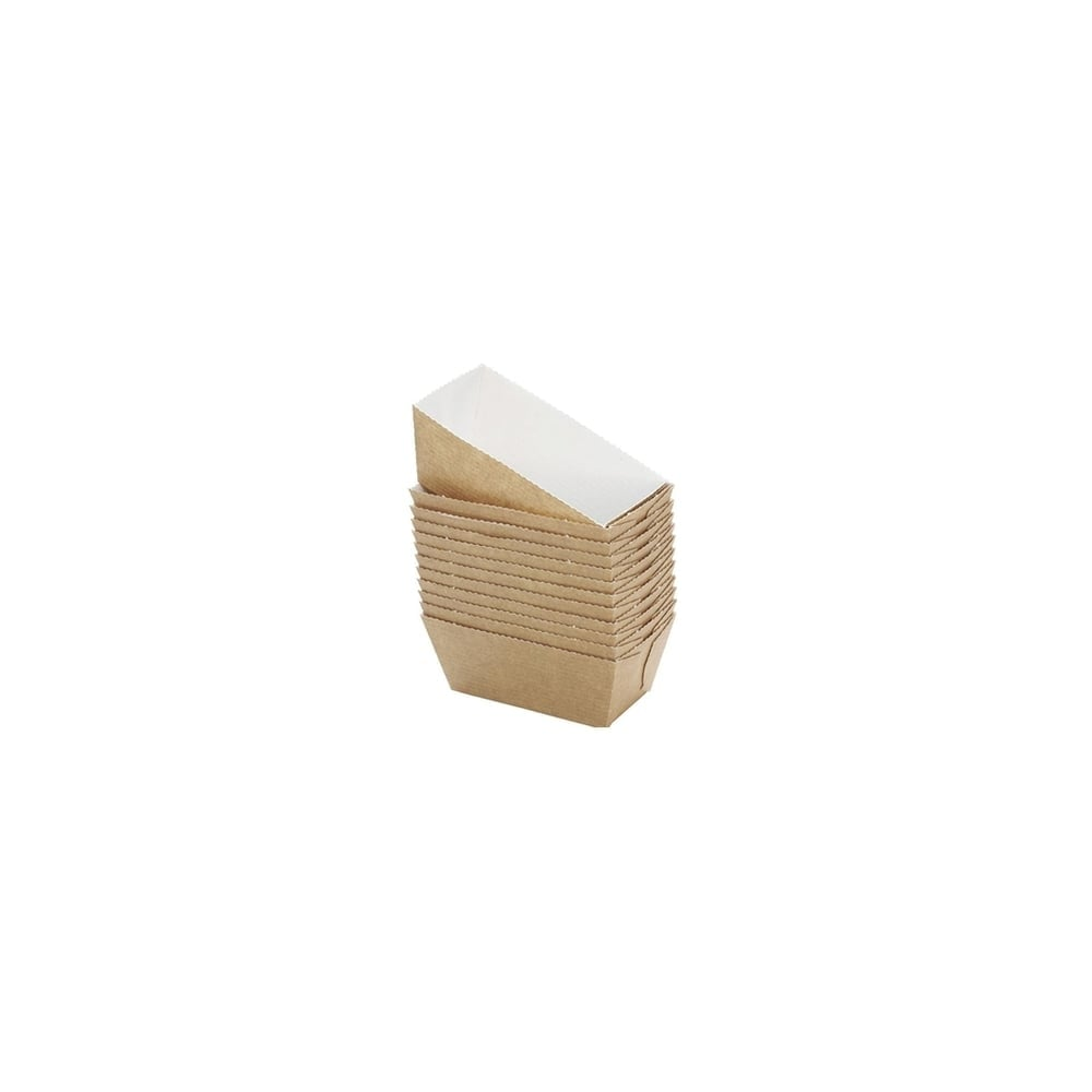 Mini moule de cuisson en papier - Rectangle - Lot de 10