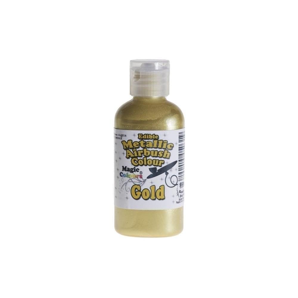 Colorant d\'Aérographe 55 ml métallique - Or