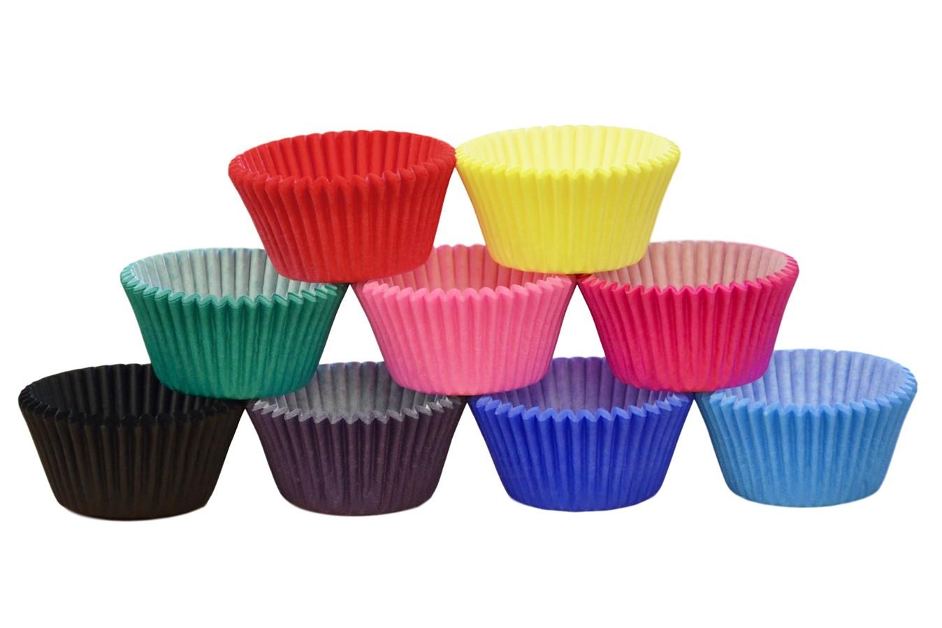 Caissettes à cupcakes - Multicolores - Lot de 144