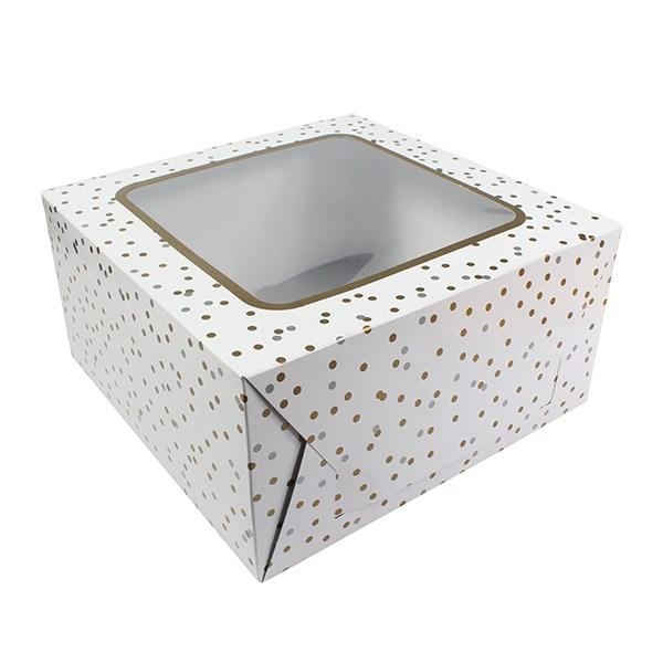 Boîte à gâteau 25 cm- Pois en Or